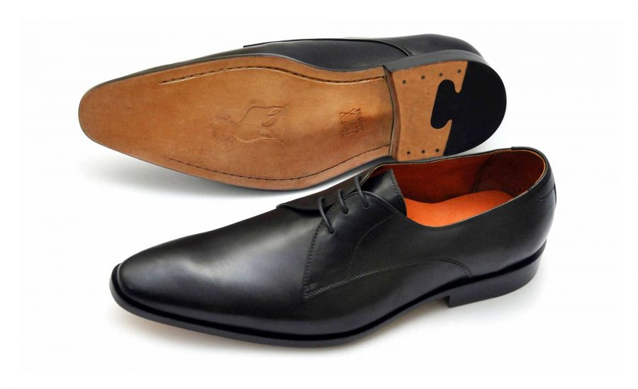 IBEX-Morab-Handmade-HandCrafted-Men-Leather-Black Derby Shoes