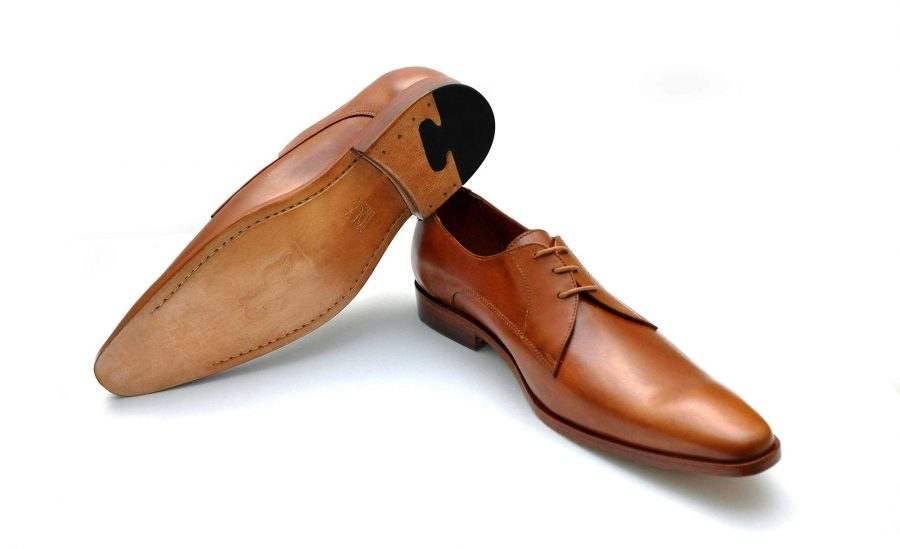 IBEX-Morab-Handmade-HandCrafted-Men-Leather-Tan Derby Dress Shoes