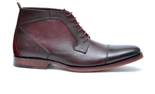 IBEX-Devon-HandCrafted-Men Leather-GoodYear Welted-CapToe-Handmade Boots