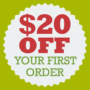 $20 discount on first order
