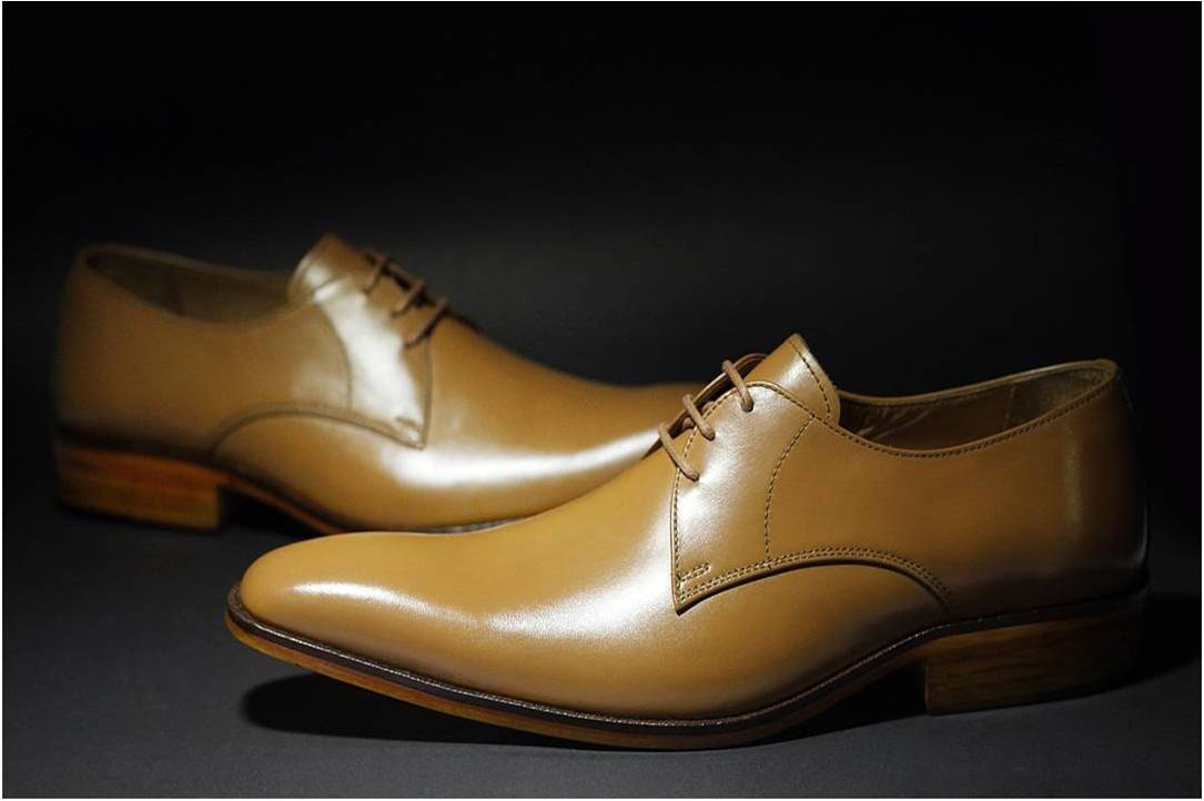 IBEX Handcrafted Tan Derby Shoes