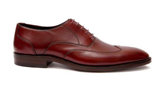Handmade-HandCrafted-Men-Leather-GoodYear-Welted-Wingtip-Burgundy Dress Shoes