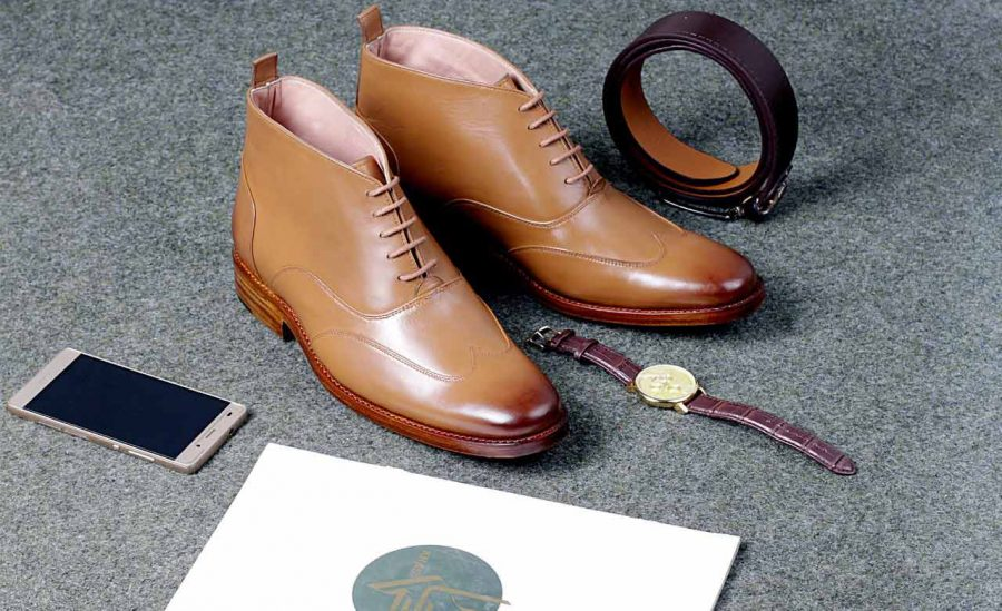 IBEX-Markhor-Handmade-Handcrafted-Goodyear Welted-Tan Oxford Boots