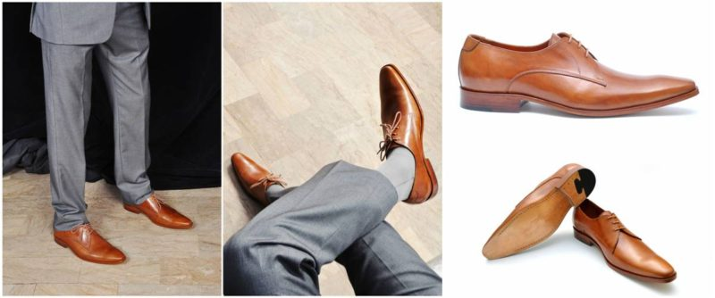 Ibex Handcrafted Tan Derby Shoe