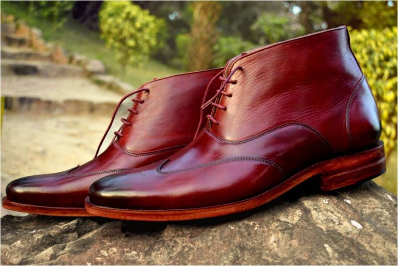 Ibex Handcrafted Wing Tip Oxford Boot