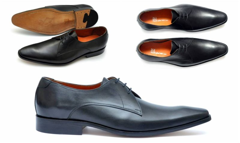 Ibex Handcrafted Black Derby Shoe