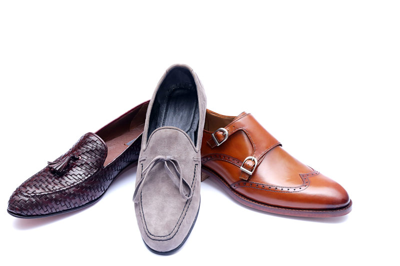 dress shoes loafer double monk straps leather aniline full grain goodyear welt blake stitch