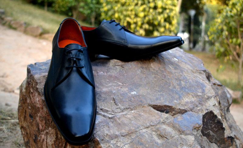 men's leather dress shoes - black derby