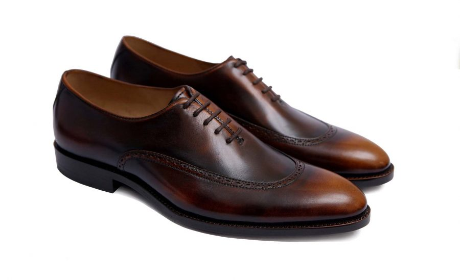 Handmade-HandCrafted-Men-Leather-GoodYear-Welted-Wingtip-Brogue Dress Shoes