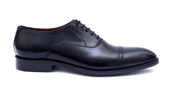 Handmade-HandCrafted-Men-Leather-Captoe-Oxfords-GoodYear-Welted-Formal-Classic Dress Shoes
