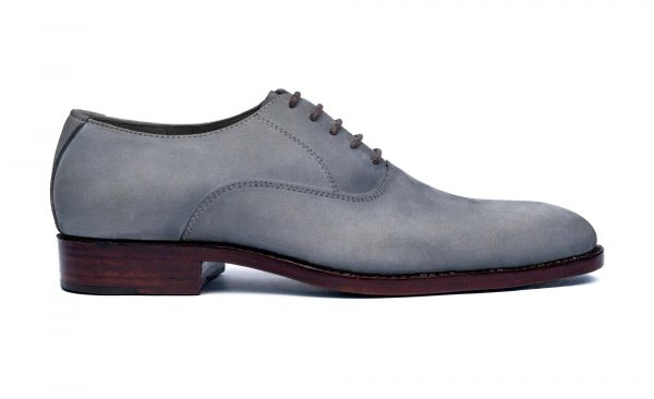 Bison - IBEX Handcrafted Nubuck Leather Shoes, Handmade, Goodyear Welted, Oxfords.