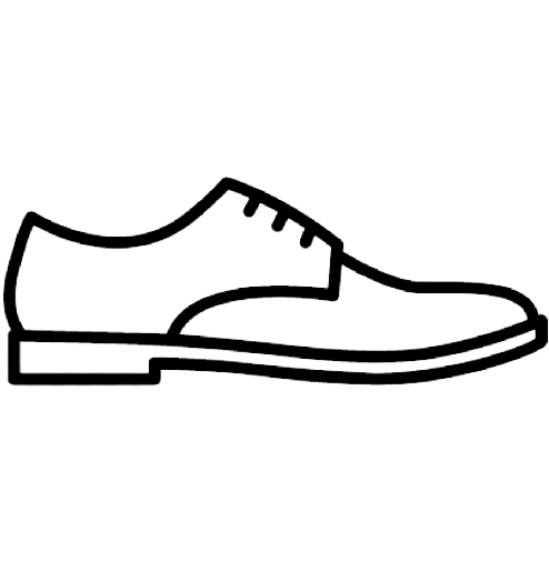 leather derby shoe vector